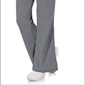 GUC Landau 8335 Steel Gray Flared Scrub Pants Sz S